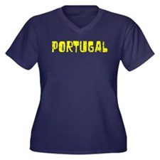 Portugal Faded (Gold) Women's Plus Size V-Neck Dar