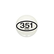 Vintage Ford Boss 351 c.i.d. Mini Button (100 pack