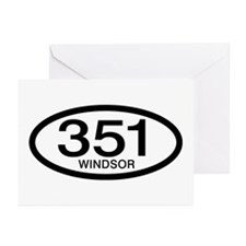 Vintage Ford 351 c.i.d. Windsor Greeting Cards (Pk