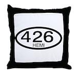 Mopar Vintage Muscle Car 426 Hemi Throw Pillow