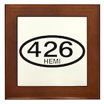 Mopar Vintage Muscle Car 426 Hemi Framed Tile