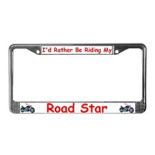 Yamaha roadstar License Plate Frame