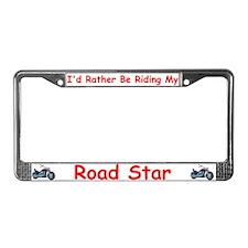Yamaha roadstar License Plate Frame