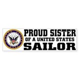 Proud Sister of a U.S. Sailor Bumper Car Sticker