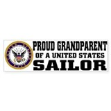 Proud Grandparent of a U.S. Sailor Bumper Stickers