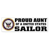 Proud Aunt of a U.S. Sailor Bumper Bumper Sticker