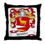 Winkler Family Crest Throw Pillow