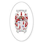 McCracken Family Crest Oval Sticker