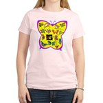 Butterflies Women's Pink T-Shirt