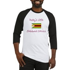 Daddy's little Zimbabwean Princess Baseball Jersey