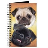 Pugaholics Journal - Fawn &amp; Black Pug Pair