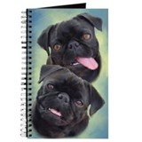 Black pug Journals & Spiral Notebooks
