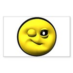 Winky Face Rectangle Sticker 10 pk)