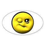 Winky Face Oval Sticker (10 pk)