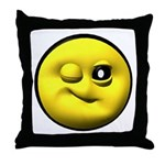 Winky Face Throw Pillow