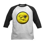 Winky Face Kids Baseball Jersey