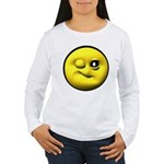 Winky Face Women's Long Sleeve T-Shirt