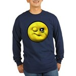 Winky Face Long Sleeve Dark T-Shirt