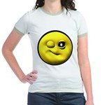 Winky Face Jr. Ringer T-Shirt