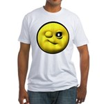 Winky Face Fitted T-Shirt