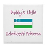 Daddy's little Uzbekistani Princess Tile Coaster