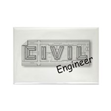 CIVIL Engineer Rectangle Magnet