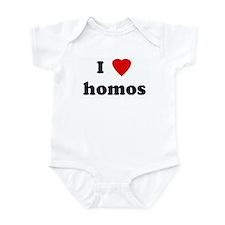 I Love homos Infant Bodysuit