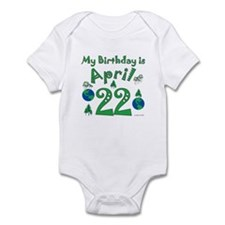 Earth Day Birthday April 22nd Infant Bodysuit