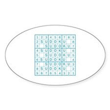 Master Blue Sudoku Oval Decal