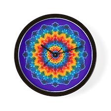 Rainbow Tie-dye Wall Clock (NO NUMBERS)