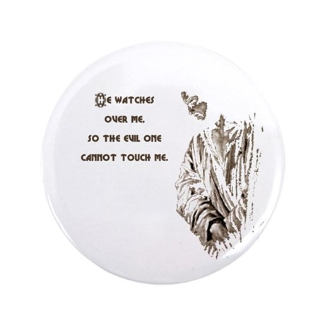 "He Watches 3.5"" Button (100 pack)"
