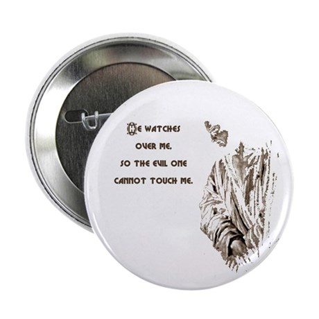 "He Watches 2.25"" Button (10 pack)"