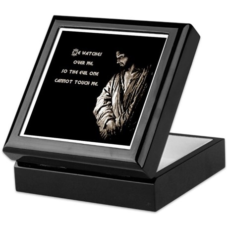 He Watches Keepsake Box