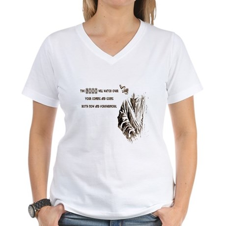 The LORD will Watch Women's V-Neck T-Shirt