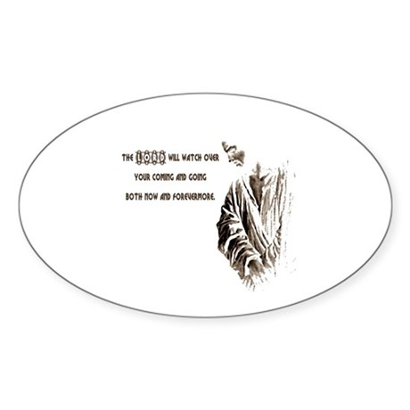The LORD will Watch Oval Sticker (50 pk)