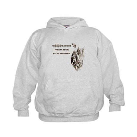 The LORD will Watch Kids Hoodie
