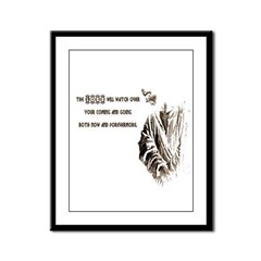 The LORD will Watch Framed Panel Print