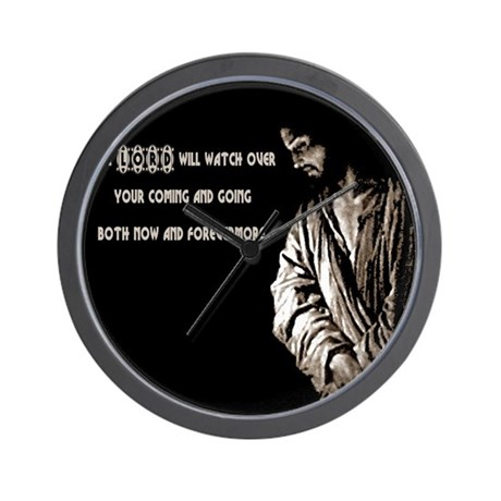 The LORD will Watch Wall Clock