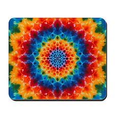 Rainbow Tie-dye Mandala Mousepad