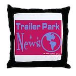 Trailer Park News Throw Pillow