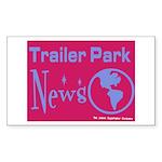 Trailer Park News Rectangle Sticker