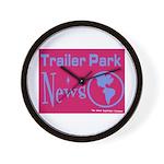 Trailer Park News Wall Clock