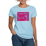 Trailer Park News Women's Pink T-Shirt
