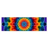 Rainbow Mandala Tie-dye Bumper Bumper Sticker