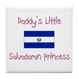 Daddy's little Salvadoran Princess Tile Coaster