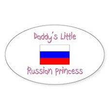 Daddy's little Russian Princess Oval Decal