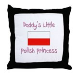 Daddy's little Polish Princess Throw Pillow