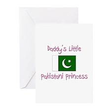 Daddy's little Pakistani Princess Greeting Cards (