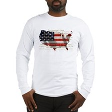 Cute Blue states Long Sleeve T-Shirt