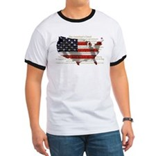 Cute Freedom flag T